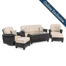 Breckenridge 6pc Patio Furniture Set w/ Natural Tan Cushion