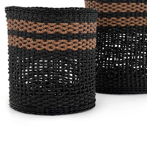 Naida Outdoor Baskets, Set of 2-natural