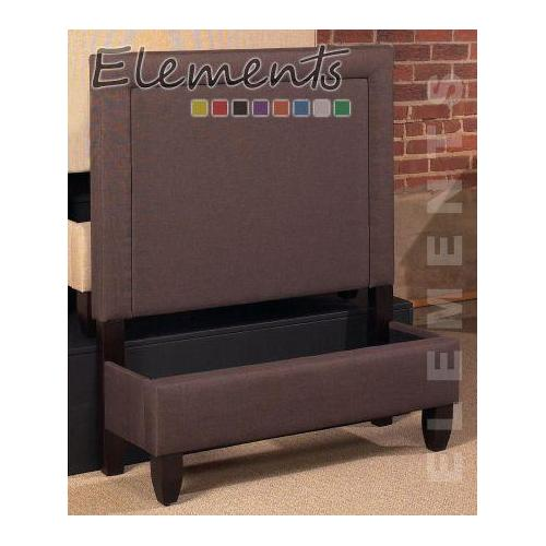Elements - Chester Queen Caramel Fabric Bed