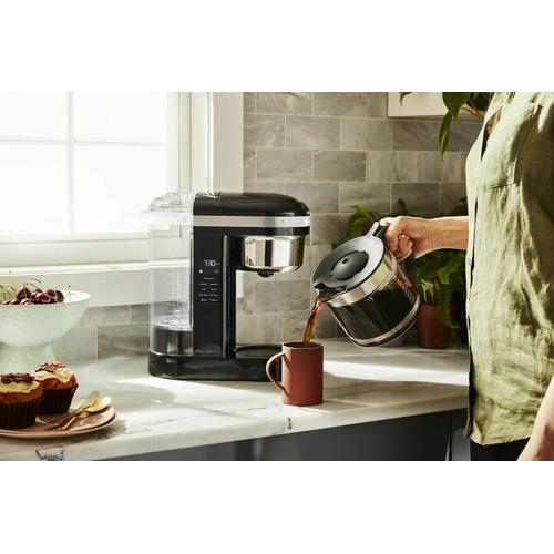 Gallery - 12 Cup Drip Coffee Maker with Spiral Showerhead and Programmable Warming Plate - Onyx Black