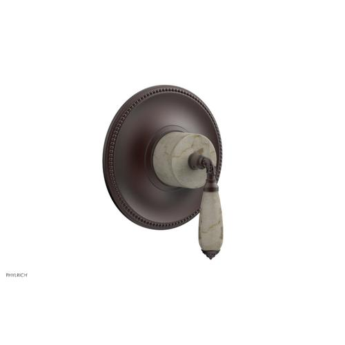 Phylrich - VALENCIA - Thermostatic Shower Trim, Beige Marble Lever Handle TH338D - Weathered Copper