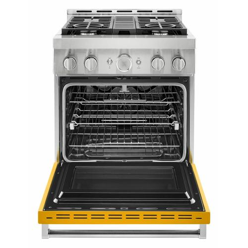 KitchenAid - KitchenAid® 30'' Smart Commercial-Style Gas Range with 4 Burners - Yellow Pepper