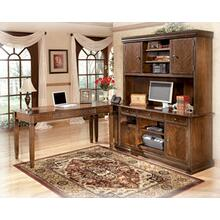 """See Details - With rich traditional style infused with a European flair, the sophisticated elegance of the """"Hamlyn"""" home office collection is sure to enhance the beauty of any home office decor. The rich medium brown finish beautifully covers an exquisite cherry veneer that is enhanced with a sophisticated Prima Vera inlay veneer to create an overall traditionally styled design. With the rich look of the antique bronze colored metal hardware, this collection captures the true beauty of grand traditional style furniture. Create a magical atmosphere for your home office with the rich elegant design of the """"Hamlyn"""" home office collection."""
