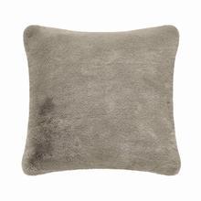 Fun Fur Short Hair Cushion - Taupe