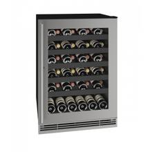 """View Product - Hwc124 24"""" Wine Refrigerator With Stainless Frame Finish (115v/60 Hz Volts /60 Hz Hz)"""