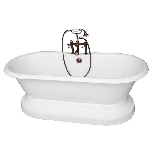 "Duet 67"" Cast Iron Double Roll Top Tub Kit - Oil Rubbed Bronze Accessories"