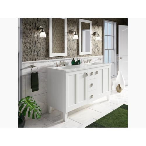 K99537lg1wb In Claret Suede By Kohler In Alsip Il Claret Suede 60 Bathroom Vanity Cabinet With Legs 2 Doors And 3 Drawers