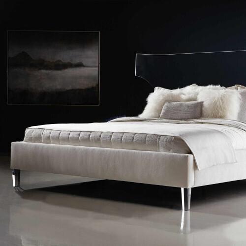 Bernhardt Interiors - King-Sized Estella Acrylic Upholstered Bed