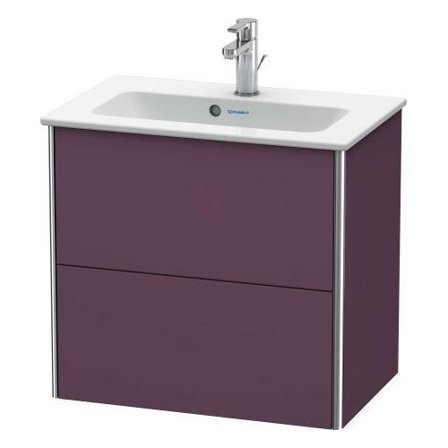Product Image - Vanity Unit Wall-mounted Compact, Aubergine Satin Matte (lacquer)