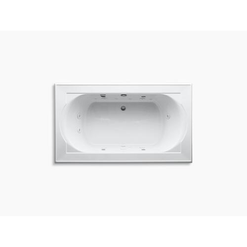 "White 72"" X 42"" Drop-in Effervescence + Whirlpool With Spa Package"