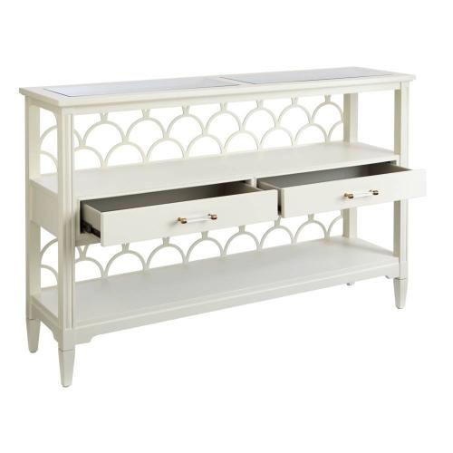 Latitude Console Table - Saltbox White