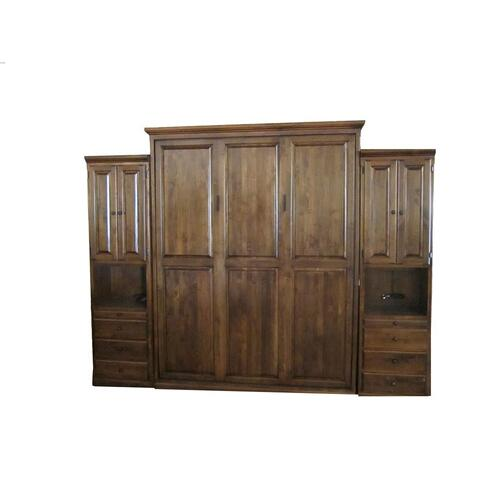 Forest Designs Traditional Wall Bed & (2) Piers - Twin