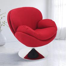 See Details - Scoop Leisure Accent Chair in Red Fabric