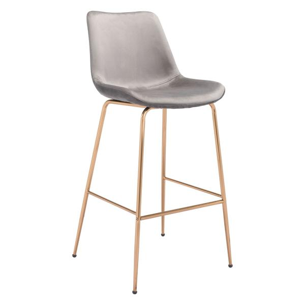 See Details - Tony Bar Chair Gray & Gold