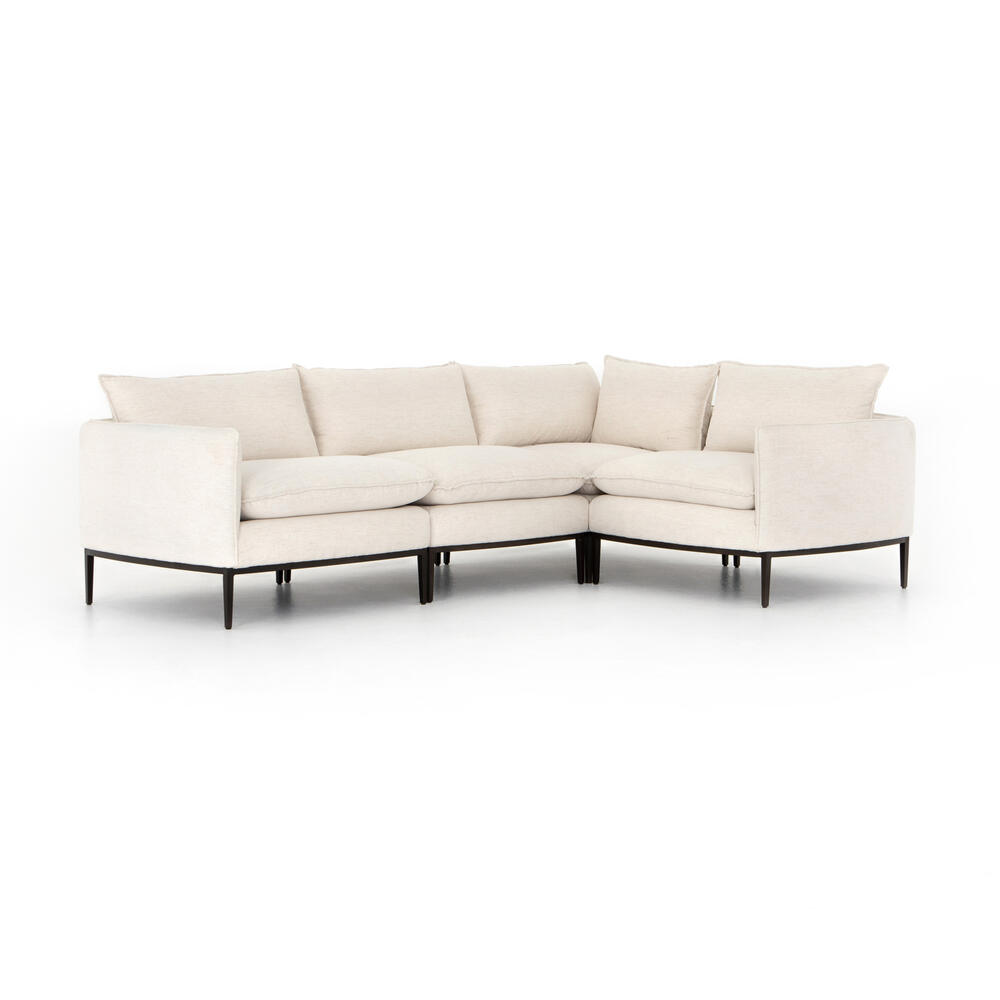 Abode Ivory Cover Donovan 4-piece Sectional