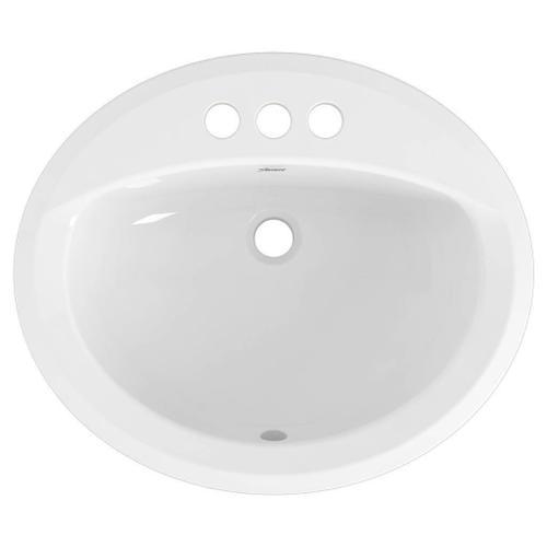 American Standard - Reliant Oval Drop-In Bathroom Sink, 4-in. Centerset Holes  American Standard - White
