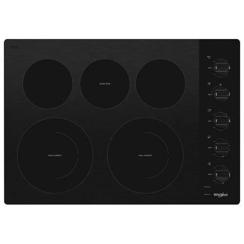 Gallery - 30-inch Electric Ceramic Glass Cooktop with Two Dual Radiant Elements
