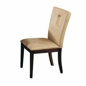 ACME Danville Side Chair (Set-2) - 16776 - Cream PU & Walnut