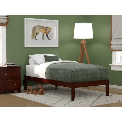 Colorado Twin Bed with USB Turbo Charger in Walnut