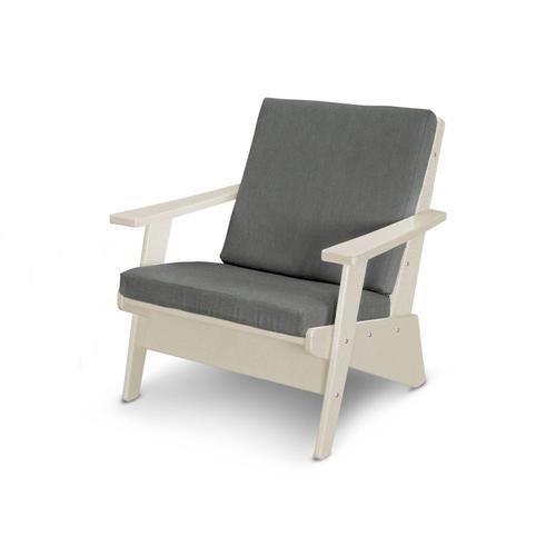 Sand & Blend Coal Riviera Modern Lounge Chair