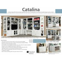 See Details - CATALINA 8 piece Library Wall with Writing Desk