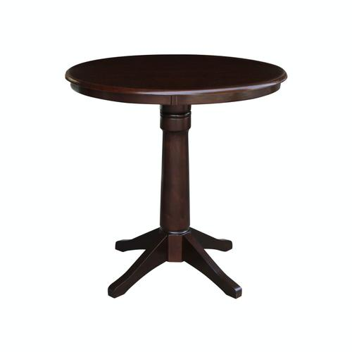 "John Thomas Furniture - 36"" Pedestal Table in Rich Mocha"