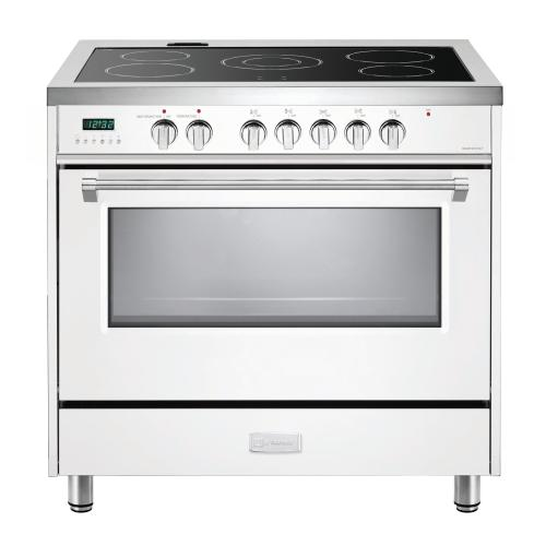 "White 36"" Designer Electric Range"