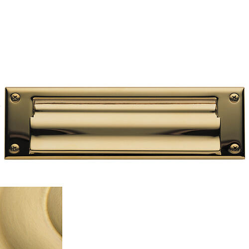 Baldwin - Lifetime Satin Brass Letter Box Plates
