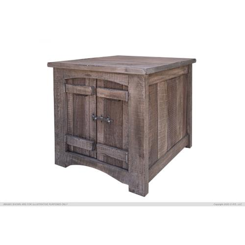 End Table w/2 Doors
