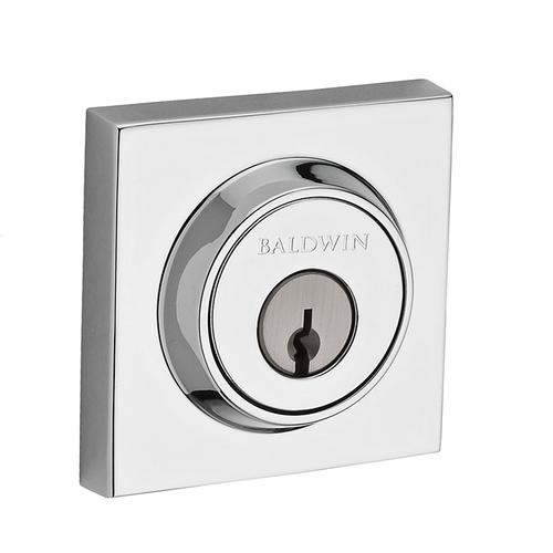Polished Chrome Contemporary Square Reserve Deadbolt