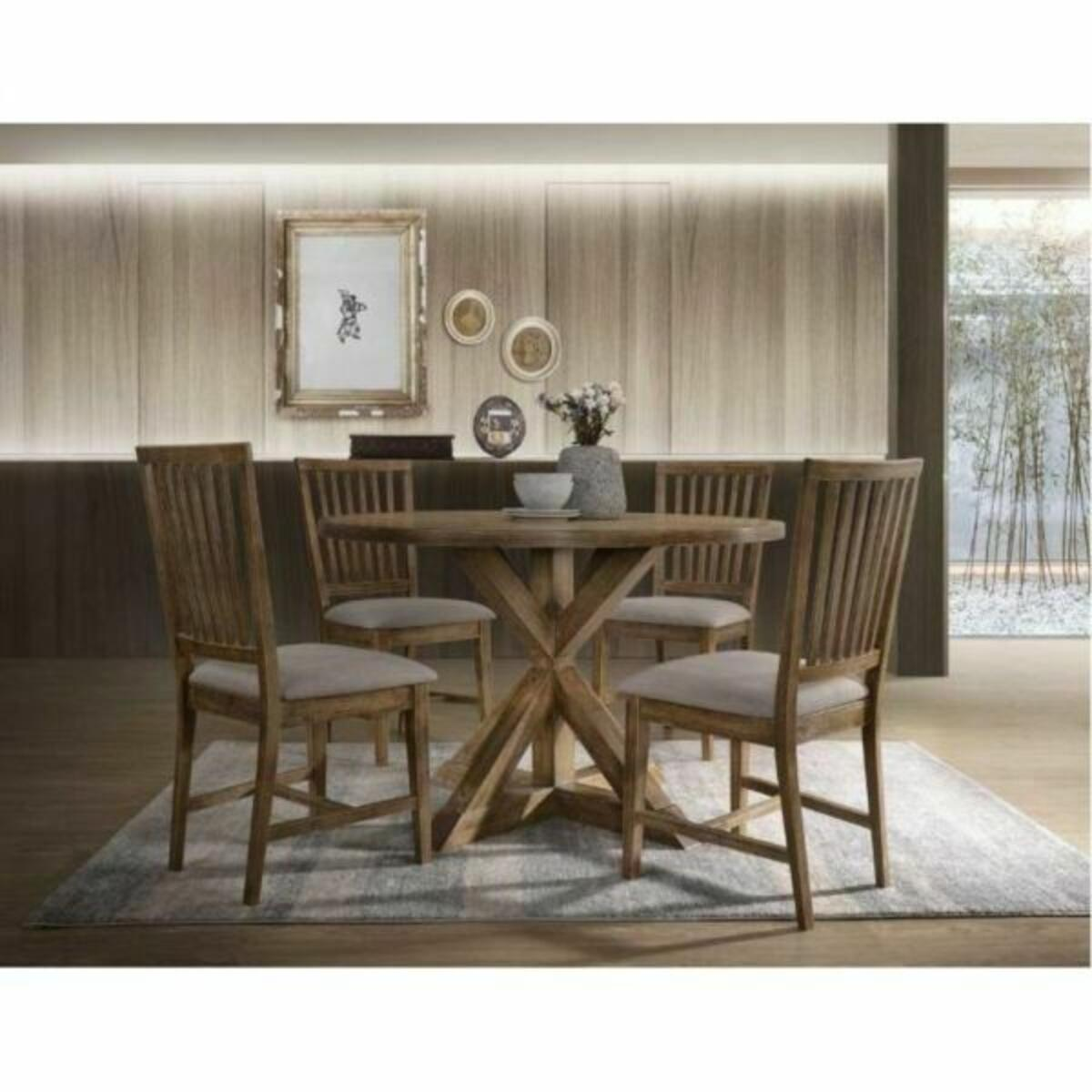 ACME Wallace II Dining Table - 72310 - Weathered Oak