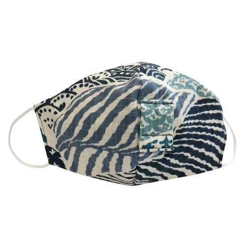 Happy Hour Reusable Face Mask in Blue Wave