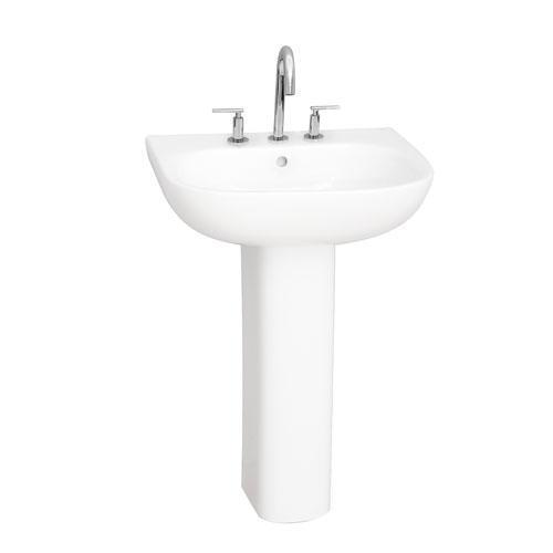 "Tonique 450 Pedestal Lavatory - 8"" Widespread"