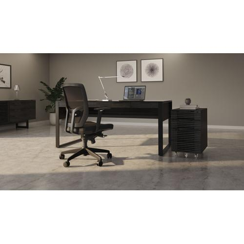 BDI Furniture - Corridor 6507 Mobile File Pedestal in Charcoal Stained Ash