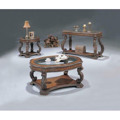 Garroway Traditional Brown End Table
