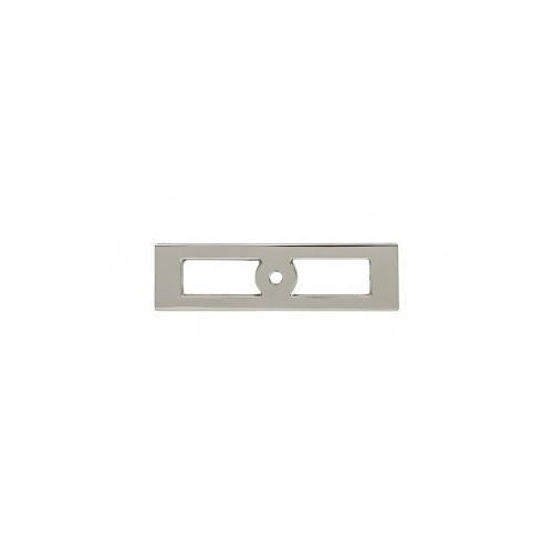 Hollin Knob Backplate 3 3/4 Inch - Polished Nickel