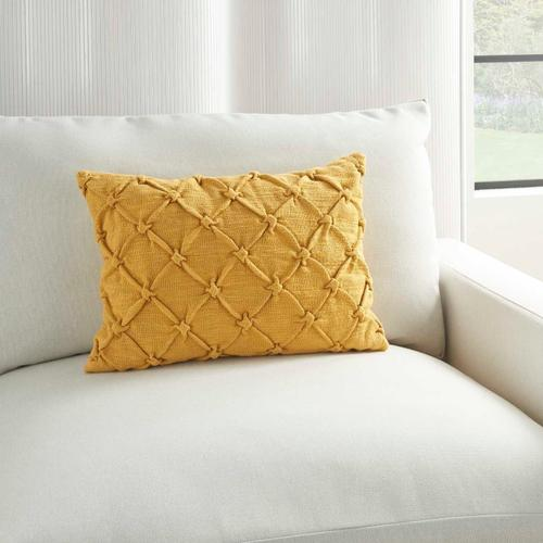 """Kathy Ireland Pillow Aa242 Yellow 14"""" X 20"""" Throw Pillow"""