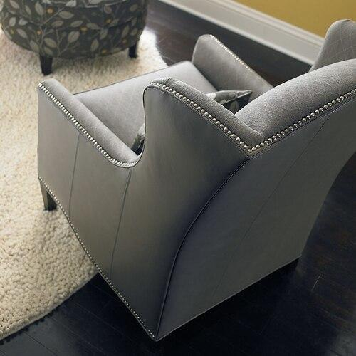 Bassett Furniture - Fleming Leather Accent Chair