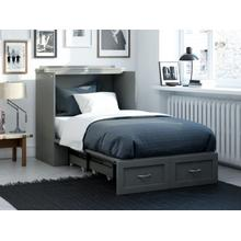 View Product - Hamilton Murphy Bed Chest Twin Extra Long Grey with Charging Station