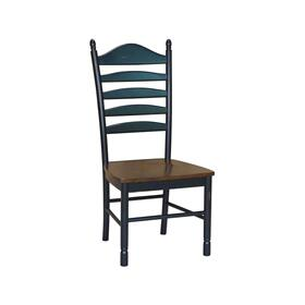 Ladderback Chair in Espresso & Aged Ebony