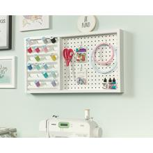 See Details - Wall Mounted Pegboard With Thread Storage