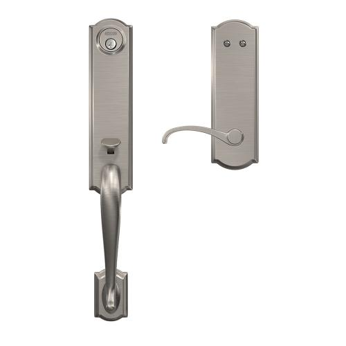 Custom Camelot 3/4 Trim Inactive Handleset with Whitney Lever - Satin Nickel