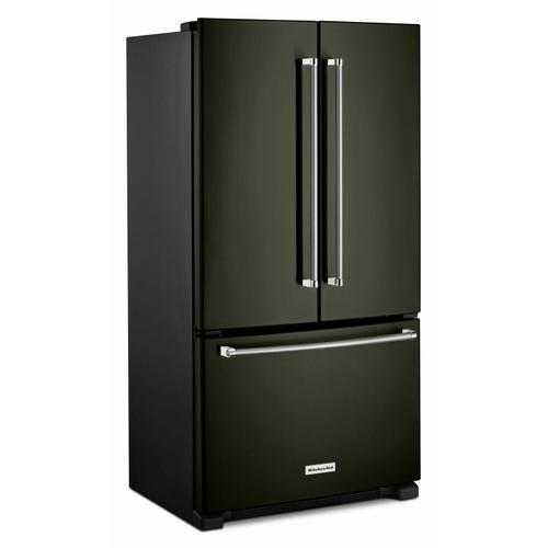 KitchenAid - 20 cu. ft. 36-Inch Width Counter-Depth French Door Refrigerator with Interior Dispense - Black Stainless Steel with PrintShield™ Finish