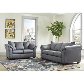 Darcy Sofa & Loveseat Steel