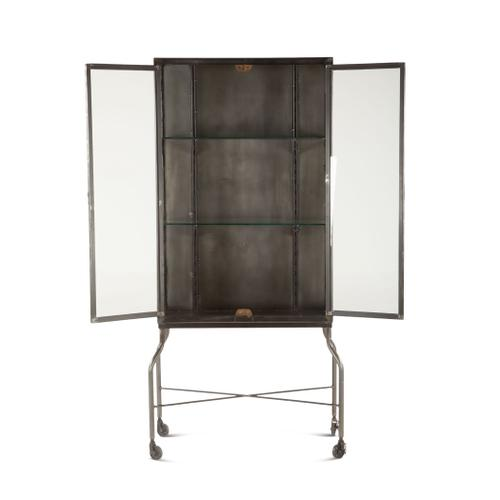 """Pittsburg 32"""" Wide Metal Glass Cabinet"""