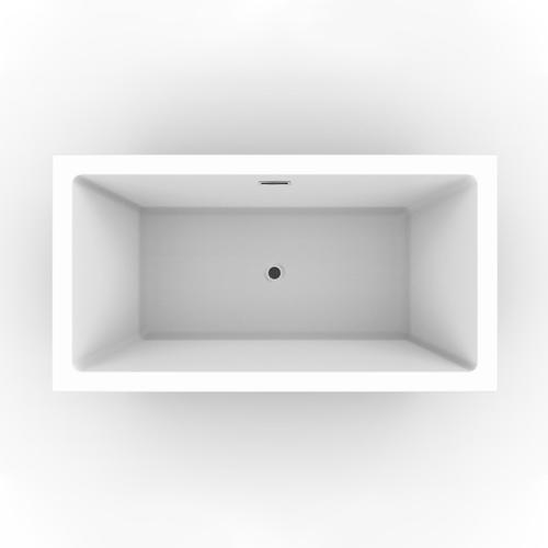 "Sheldon 59"" Acrylic Tub with Integral Drain and Overflow - Oil Rubbed Bronze Drain and Overflow"