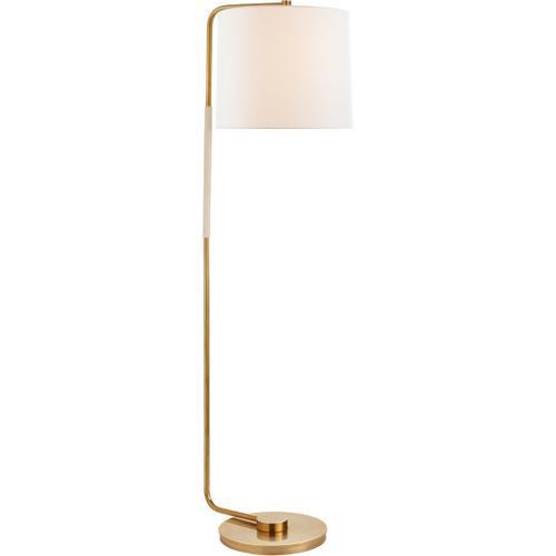 Visual Comfort - Barbara Barry Swing 55 inch 75.00 watt Soft Brass Floor Lamp Portable Light, Articulating