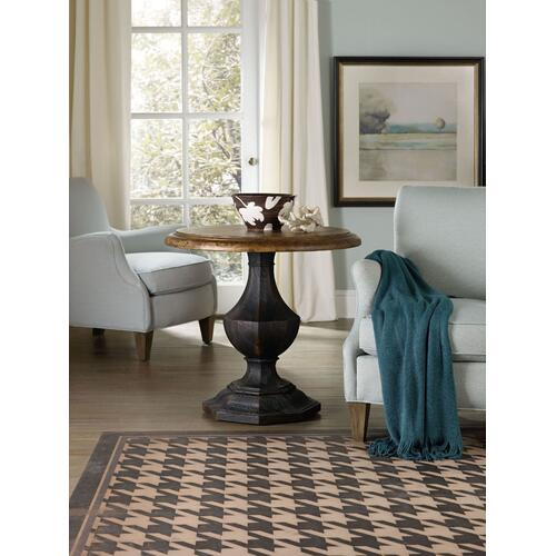 Living Room Sanctuary Round Accent Table