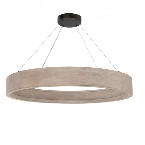 Large Size Brushed Oak Finish Baum Chandelier - Brushed Oak