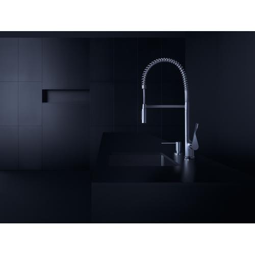 Chrome Liquid soap dispenser/ washing-up liquid dispenser